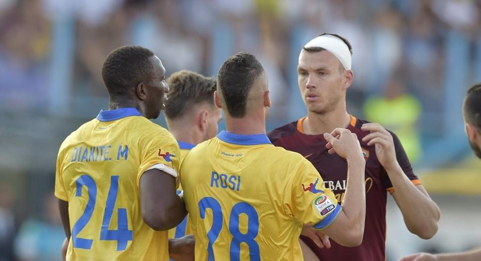 Frosinone Roma, vittoria giallorossi