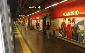 Roma, stazione metro Flaminio