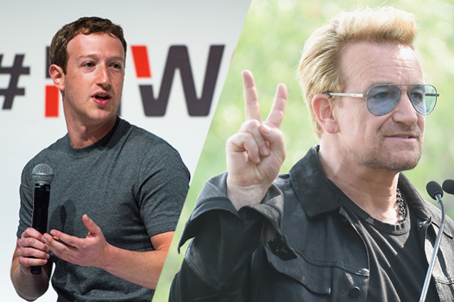 Mark Zuckerberg e Bono Vox contro Digital Divide