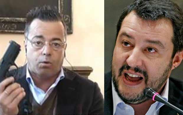 Buonanno con Pistola in Tv: Salvini lo Critica