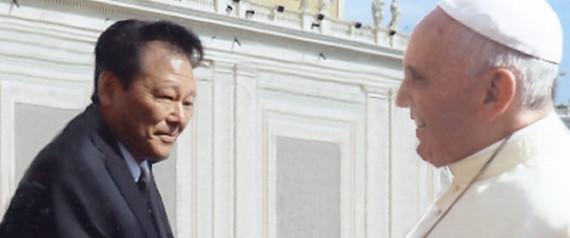 Papa Francesco e Neurochirurgo Fukushima