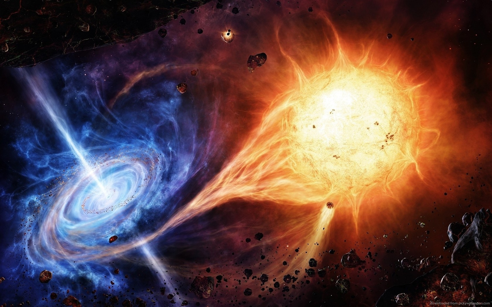 Buco nero inghiottisce stella come sole