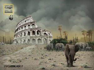 Roma desertificata: foto choc WWF contro riscaldamento globale