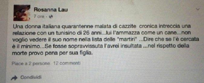 Consigliera Civitavecchia: frasi choc su Facebook su omicidio Parma