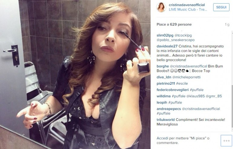 Cristina D'Avena sexy su Instagram