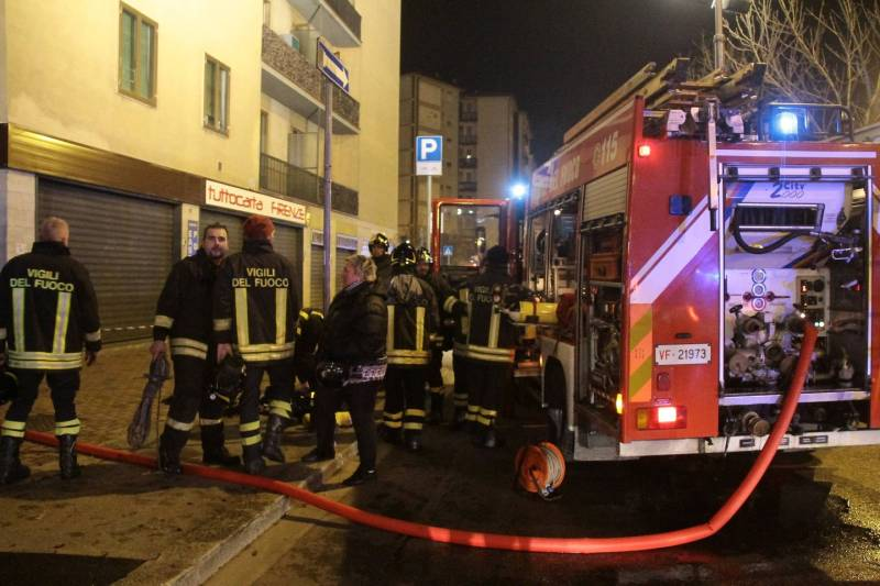 Firenze, incendio via Pisacane