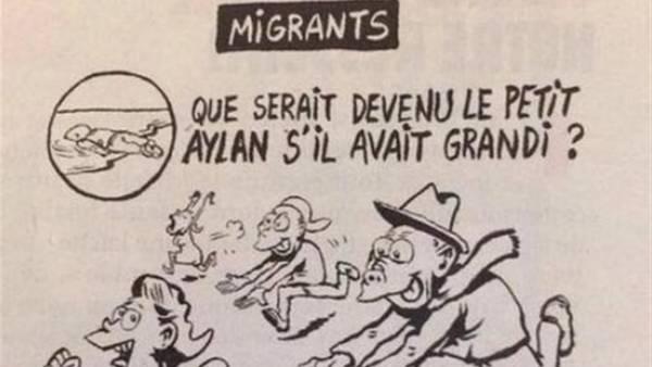 Vignetta choc Charlie Hebdo: piccolo Aylan sarebbe stato molestatore
