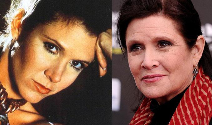 Star Wars episodio 7: Carrie Fisher criticata per aspetto