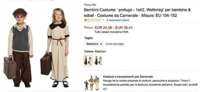 Costume di Carnevale da piccolo profugo su Amazon: utenti italiani indignati
