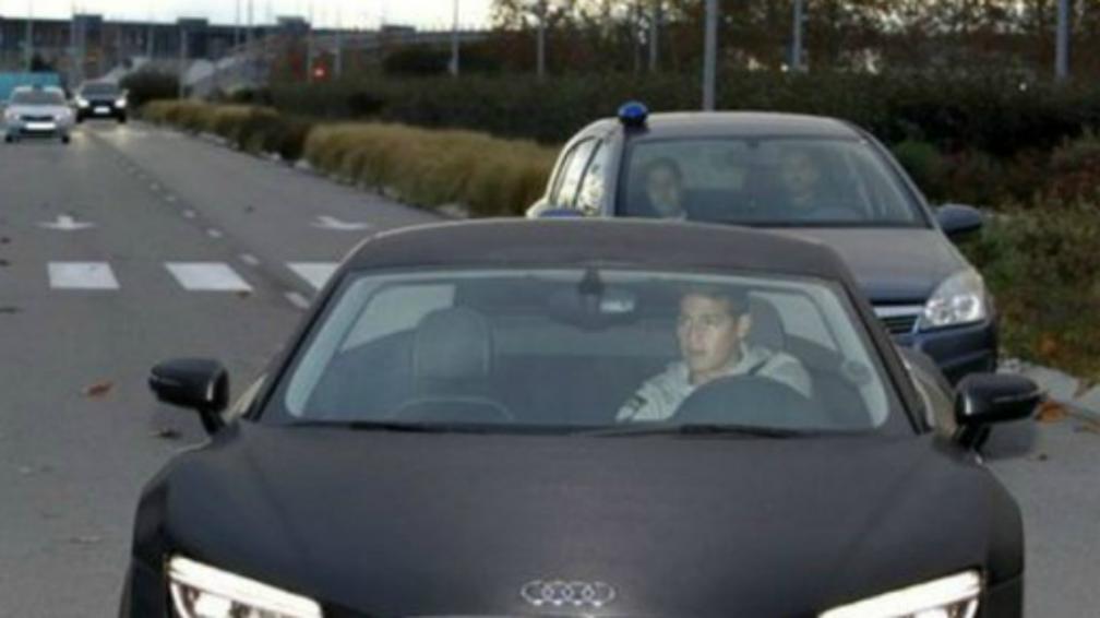 James Rodriguez sfreccia con Audi su tangenziale Madrid: rischia ritiro patente