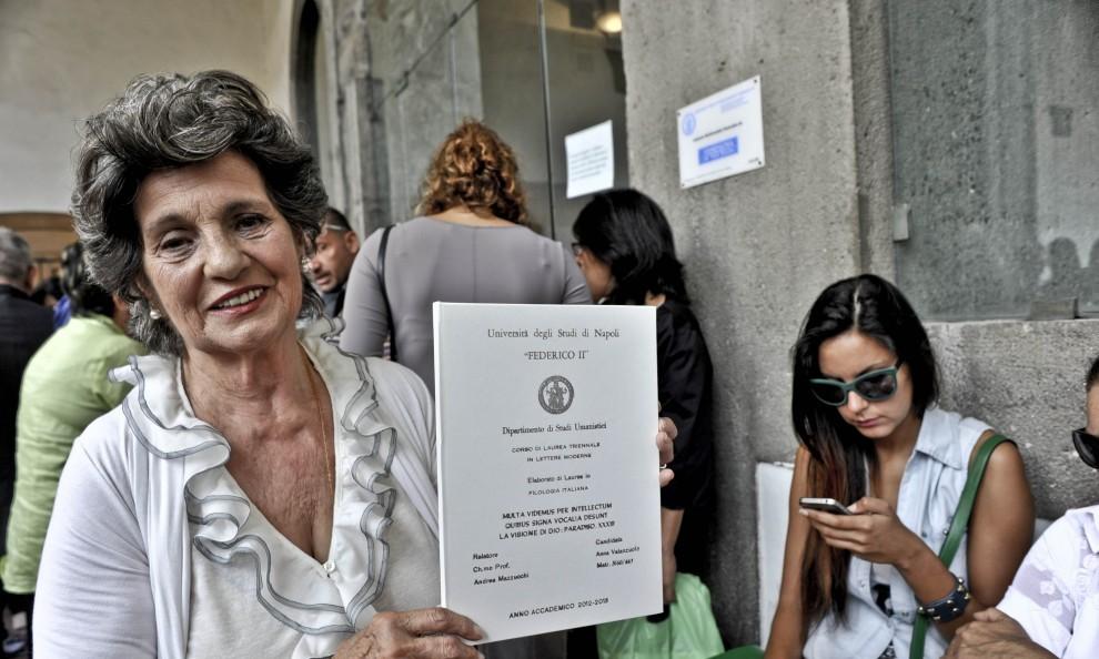 Napoli, Maestra Laureata a 88 anni