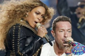 Chris Martin e Beyoncé al Super Bowl