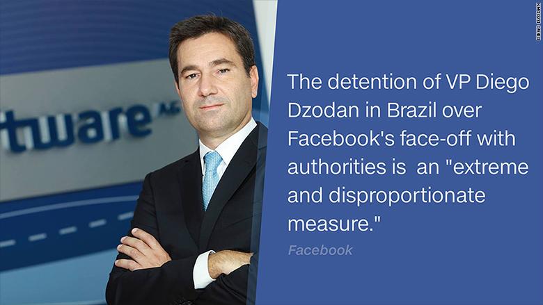Top Manager Facebook Brasile Arrestato