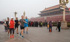 Facebook. Zuckerberg fa jogging a Pechino