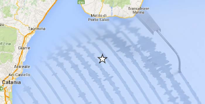 Scossa Sismica tra Reggio Calabria e Catania