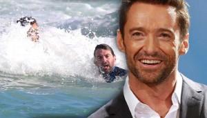 Hugh Jackman salva figlio in Australia