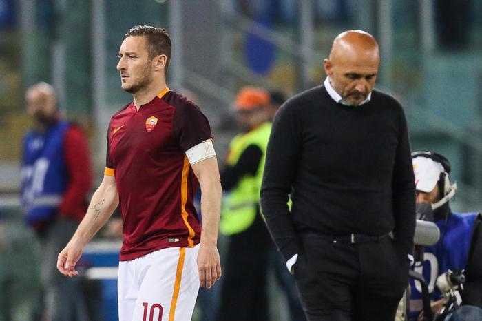 Spalletti rimprovera Totti