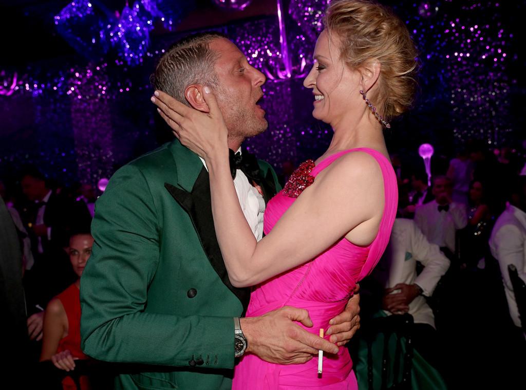 Cannes, Lapo Elkann bacia Uma Thurman