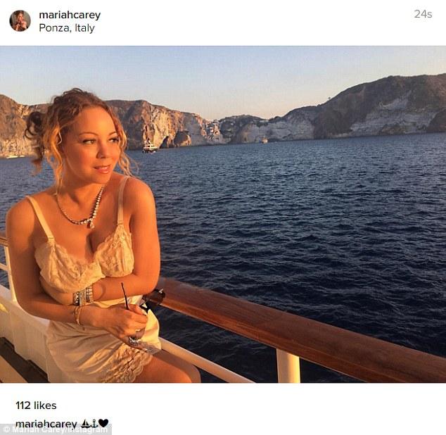 Mariah Carey: relax a Ponza