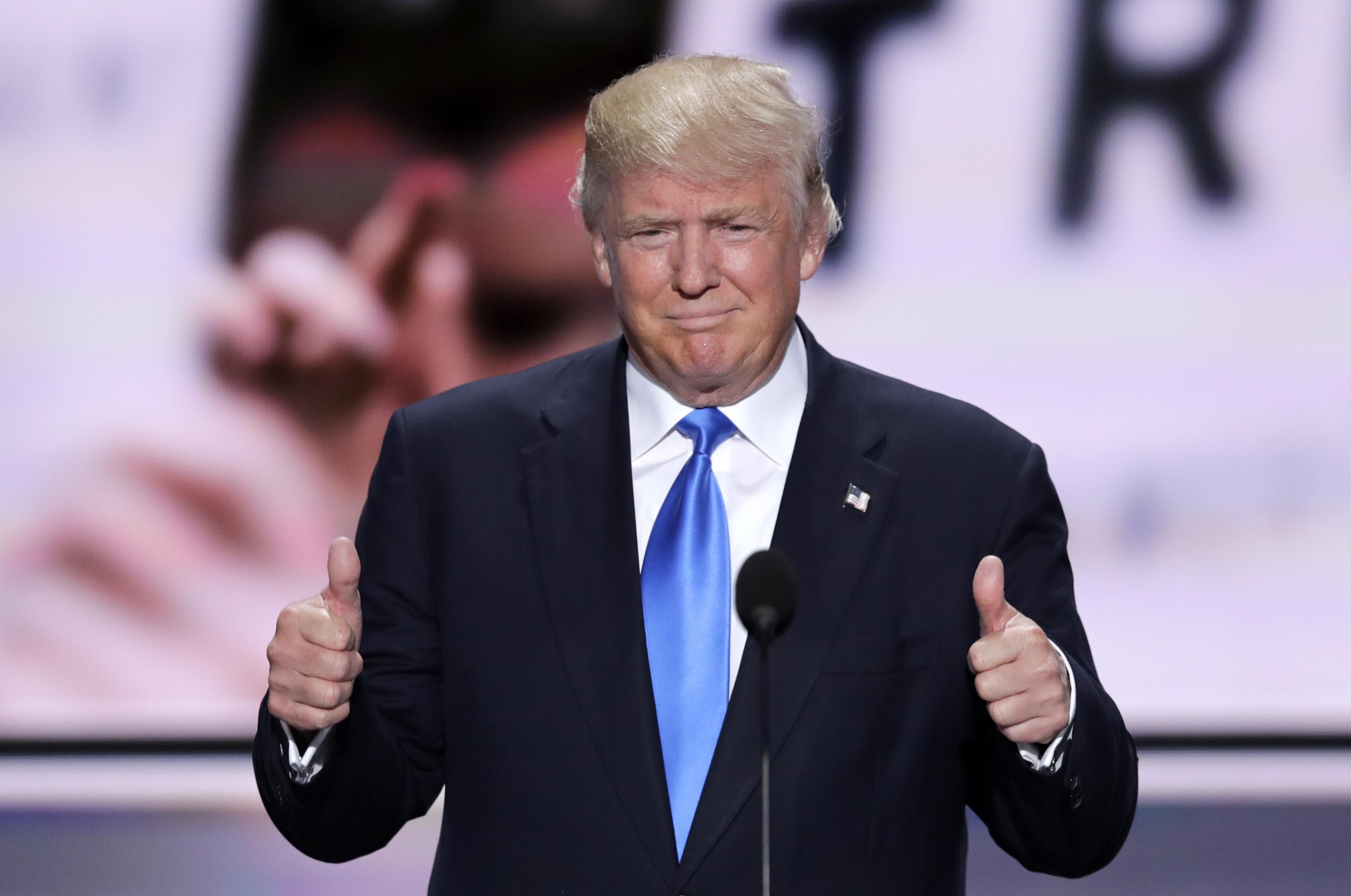 Donal Trump candidato repubblicano alla Casa Bianca