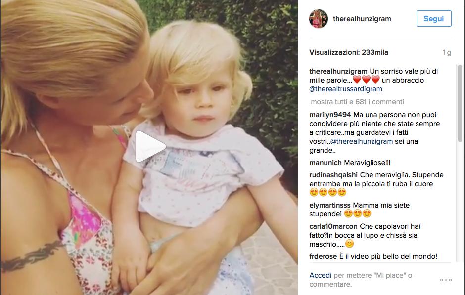 Michelle Hunziker incinta del quarto figlio: commento misterioso su Instagram
