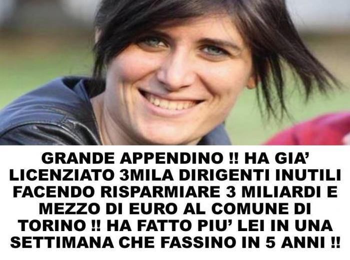 Chiara Appendino licenzia 3.000 dirigenti: post fake