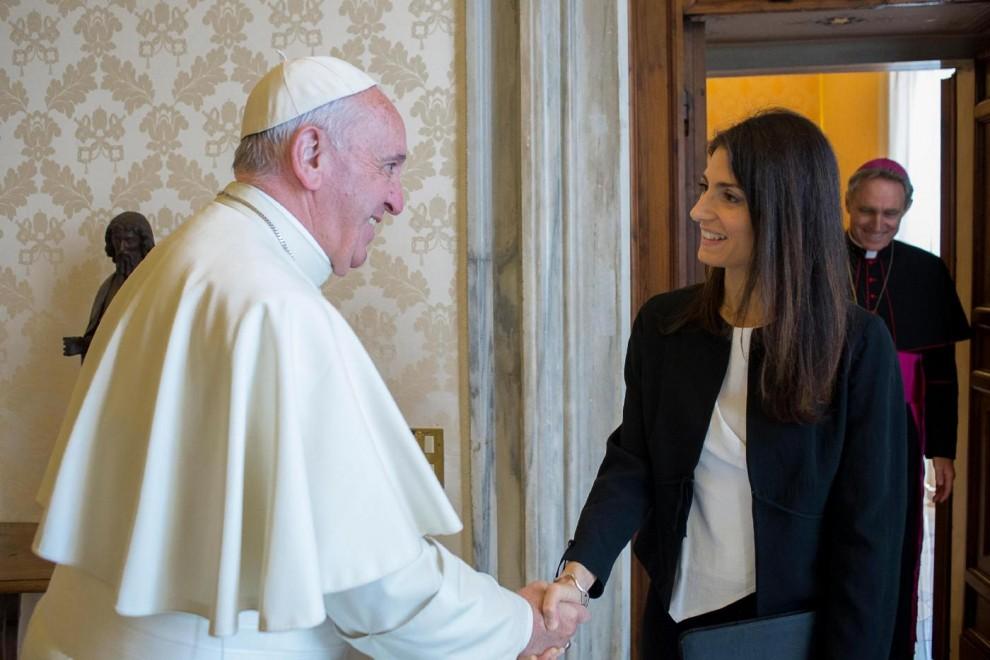 Virginia Raggi: incontro con Papa Francesco