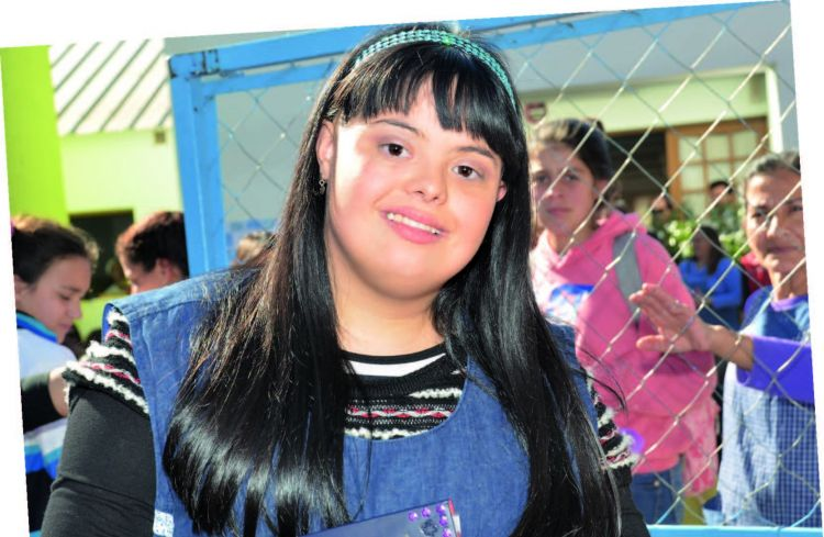 Una maestra d'asilo Down in Argentina