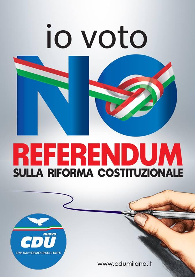 Referendum, CDU Milano chiede il No agli italiani