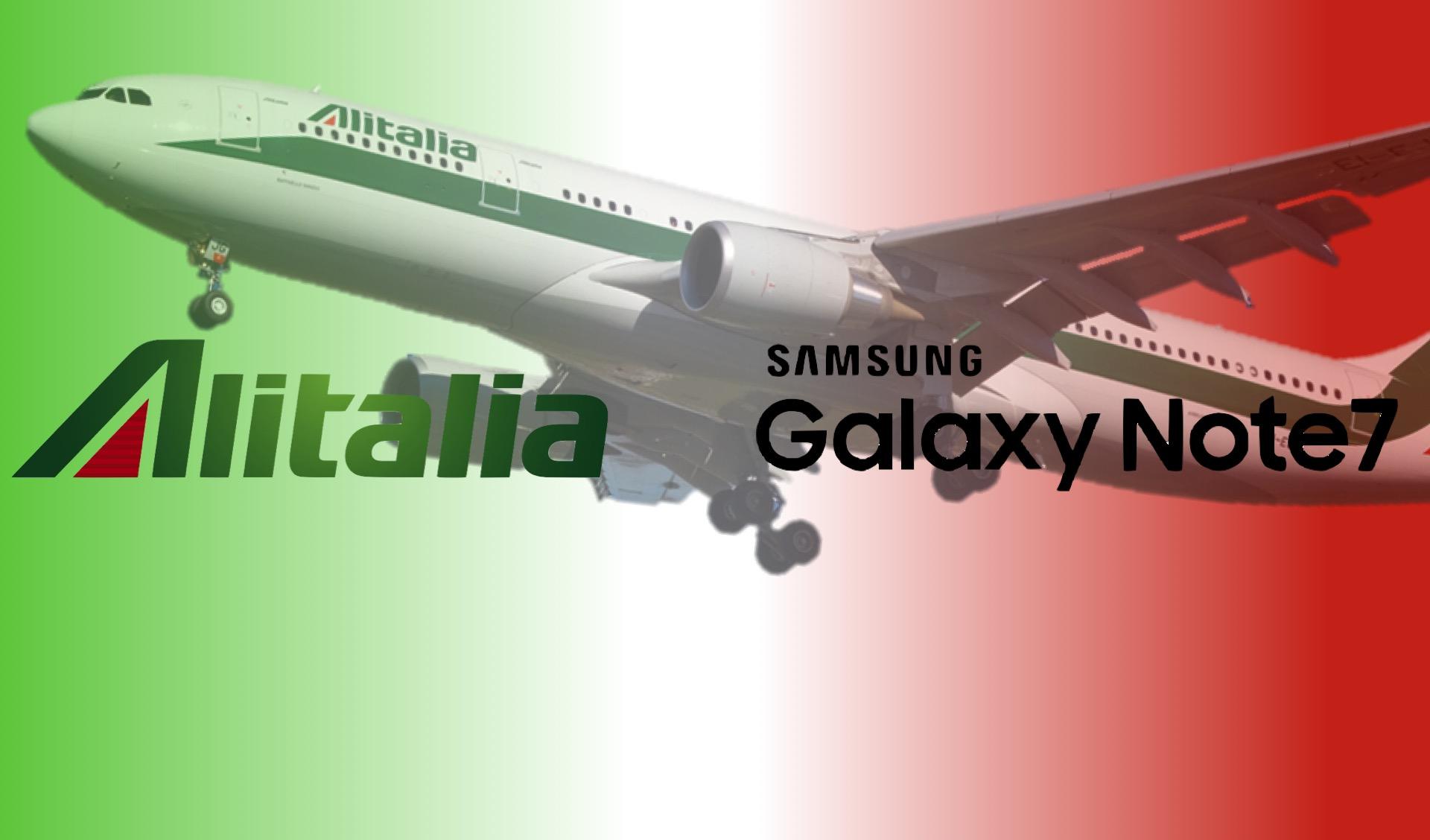 Samsung Galaxy Note 7 escluso dai voli Alitalia: minaccia la sicurezza dei passeggeri