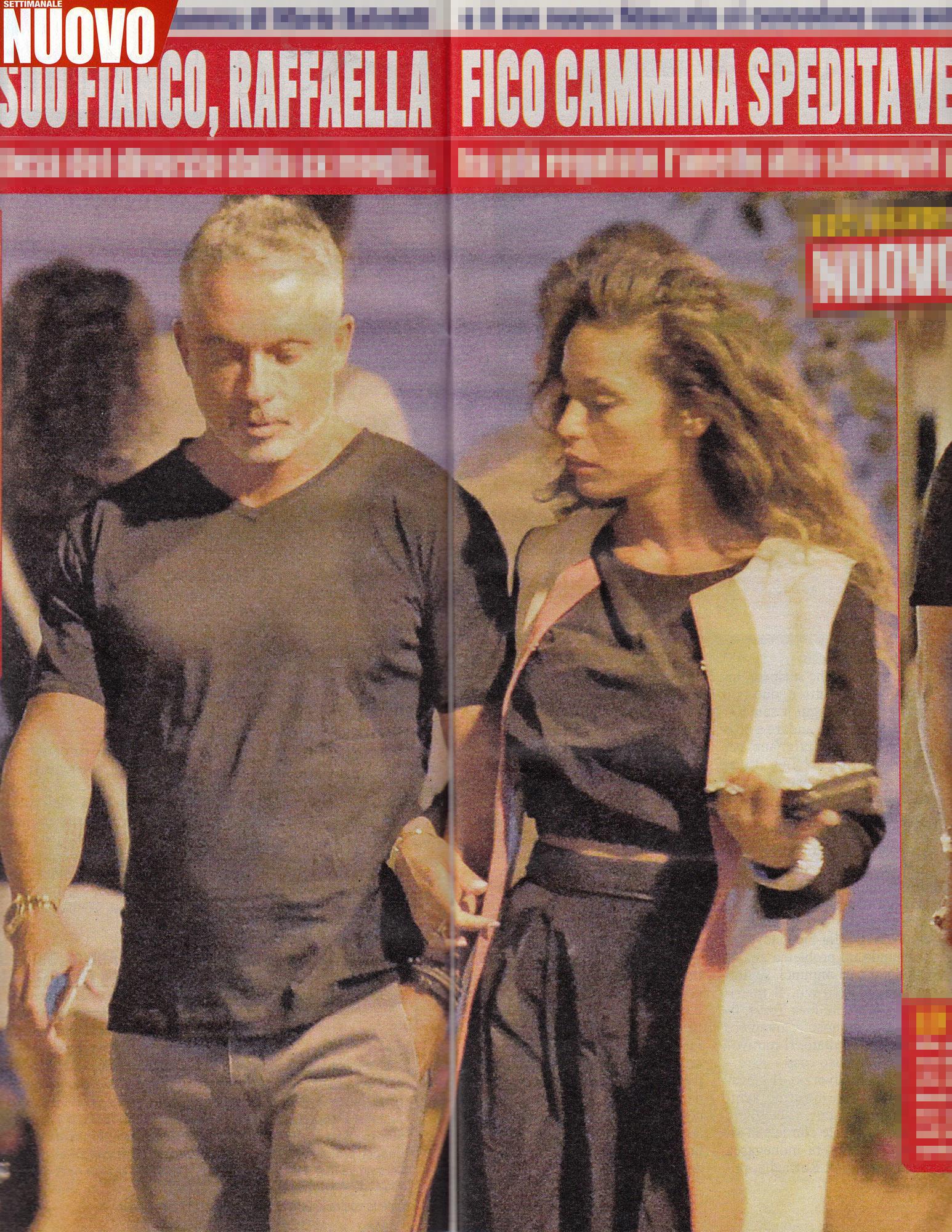 Raffaella Fico: relax a Ponza con Alessandro Moggi
