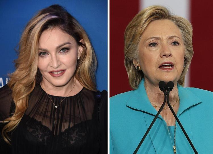 Madonna, proposta sconcertante per esortare americani a votare Hillary Clinton