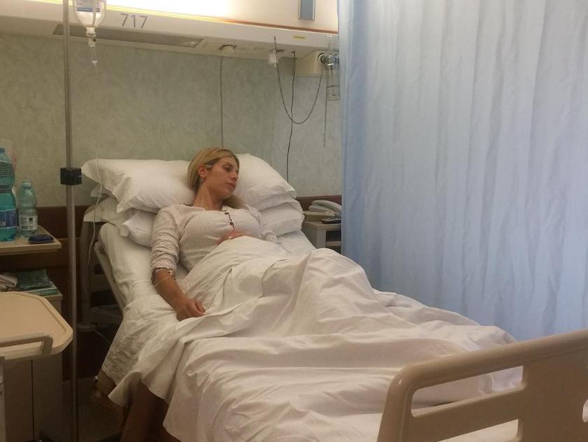 Emorragia per Paola Caruso: operata urgentemente