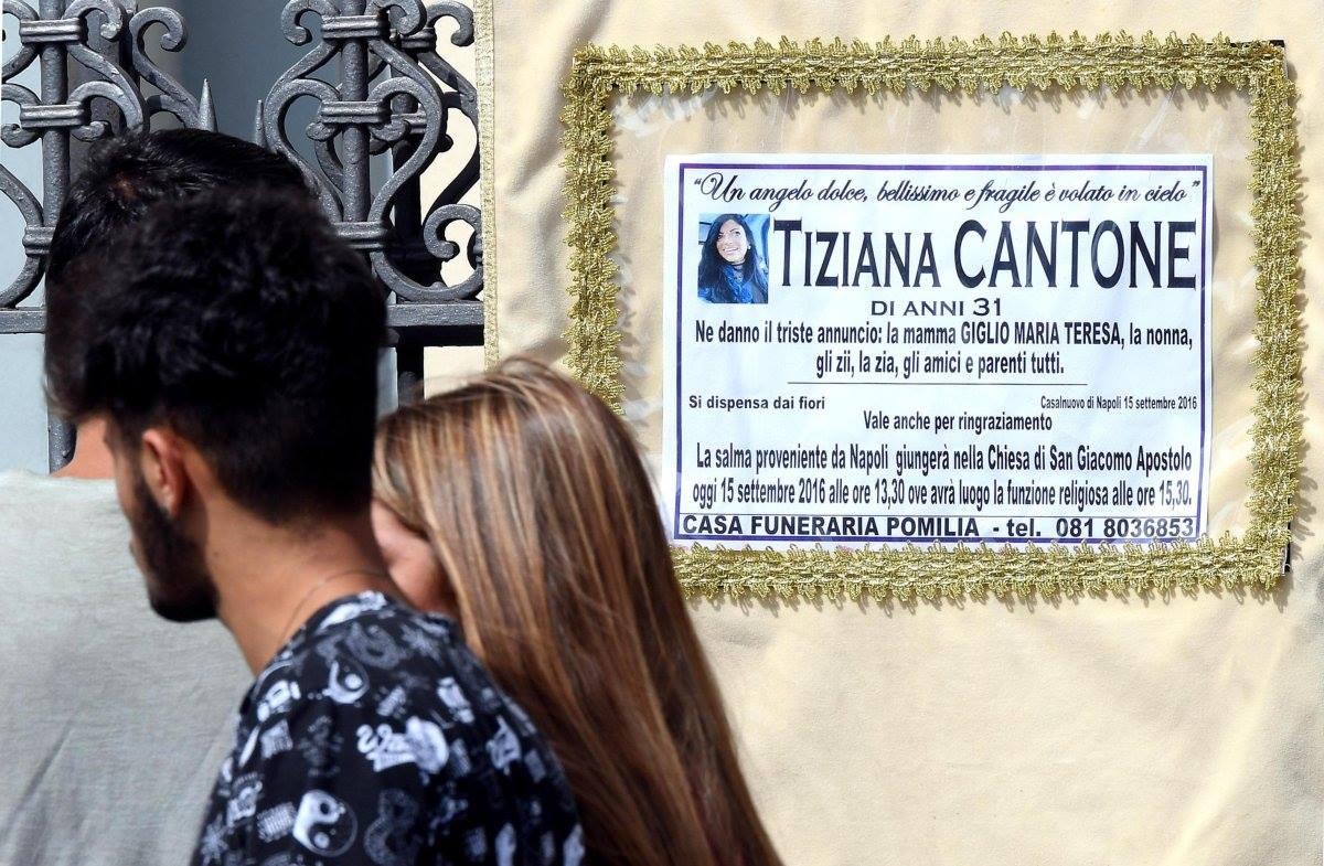 Tiziana Cantone, Facebook doveva rimuovere informazioni
