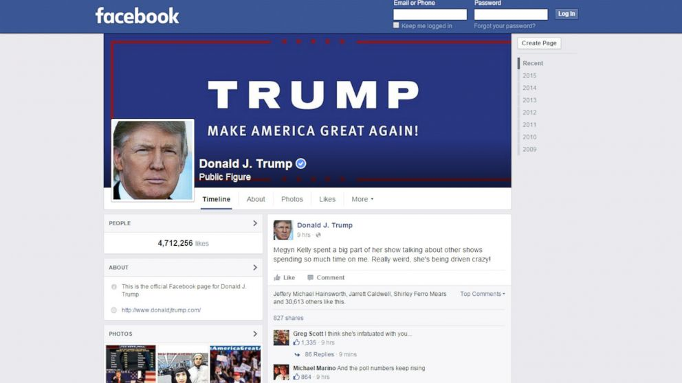 Facebook, Zuckerberg nega endorsement a Trump