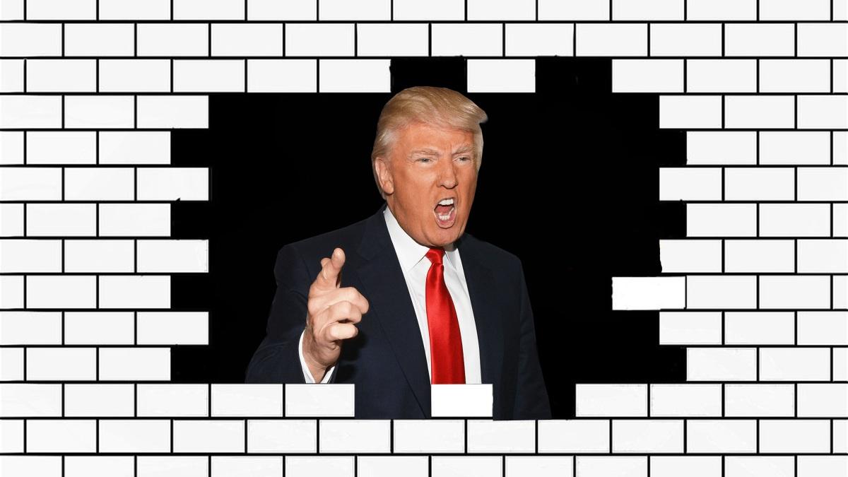 Trum promette un muro al confine col Messico