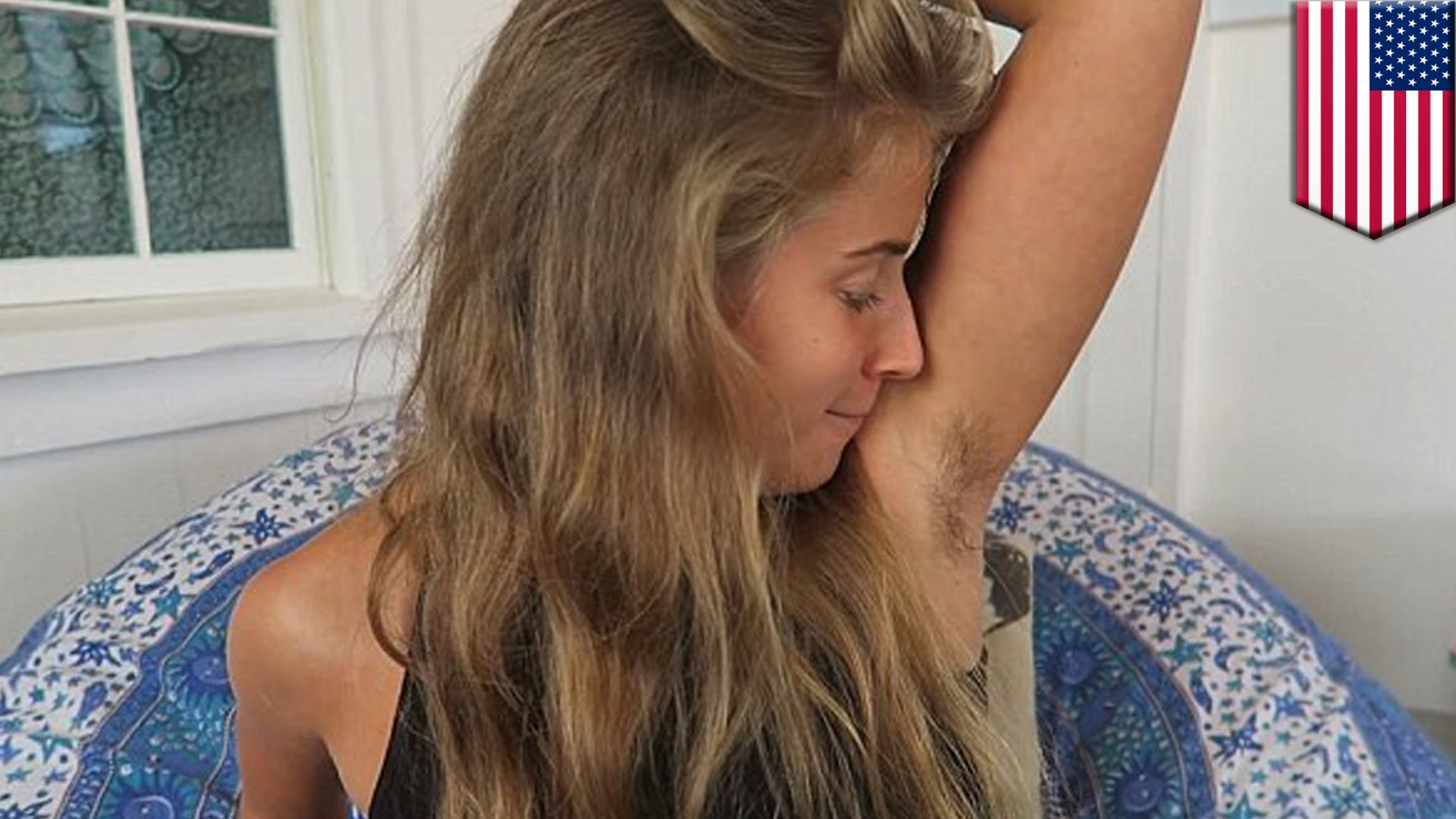 Blogger non usa deodoranti e non depila le ascelle