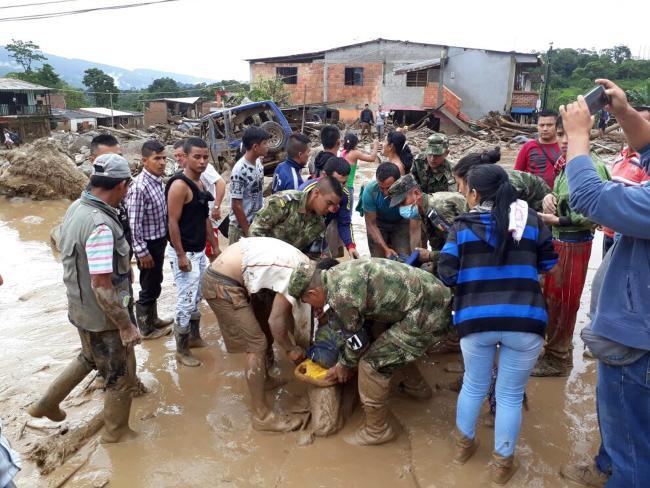 Colombia, valanga di fango su Mocoa