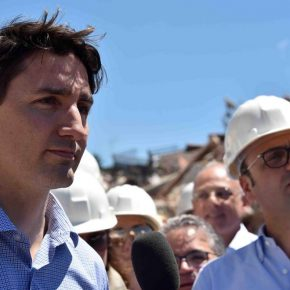 Premier canadese Justin Trudeau ad Amatrice