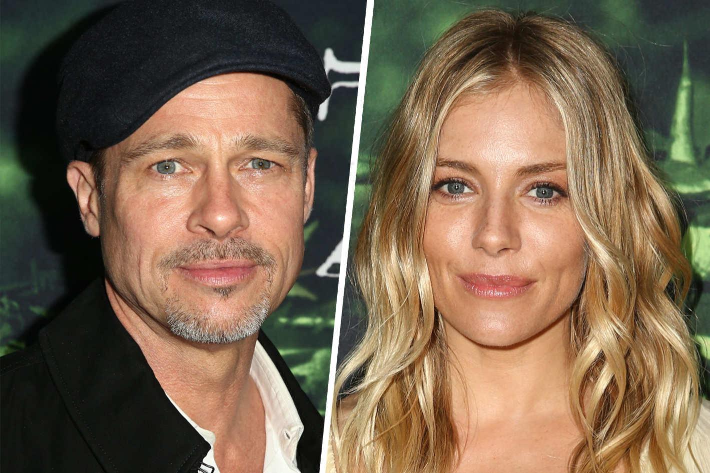 Brad Pitt dimentica Angelina e flirta con Sienna Miller