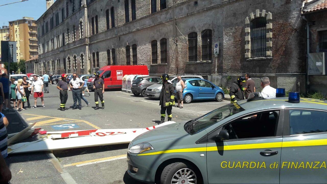 Aliante precipita a Novi Ligure: pilota morto