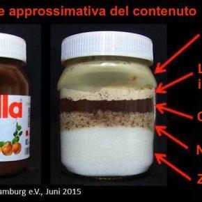 Nutella, foto impressionante degli ingredienti
