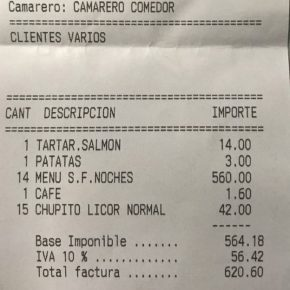 Pamplona, italiani non pagano conto di 620 euro al ristorante