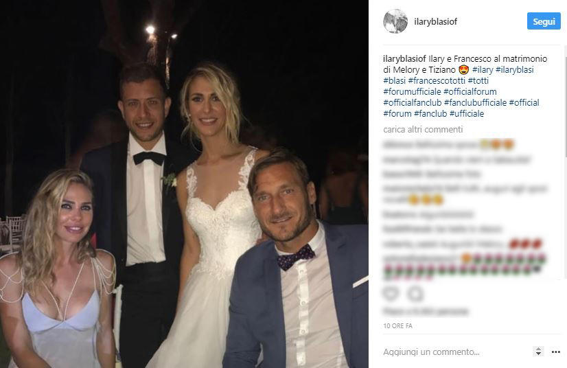 Totti alle nozze di Melory Blasi, tanti selfie e divertimento