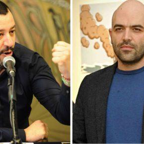 Salvini, dura replica a Saviano: la minaccia di togliergli la scorta