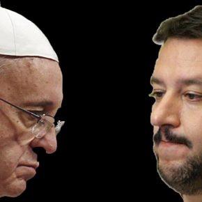 Salvini contro Papa Francesco su accoglienza migranti e rifugiati