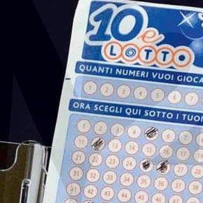 10 e Lotto, vince 250 mila euro con schedina da 2 euro