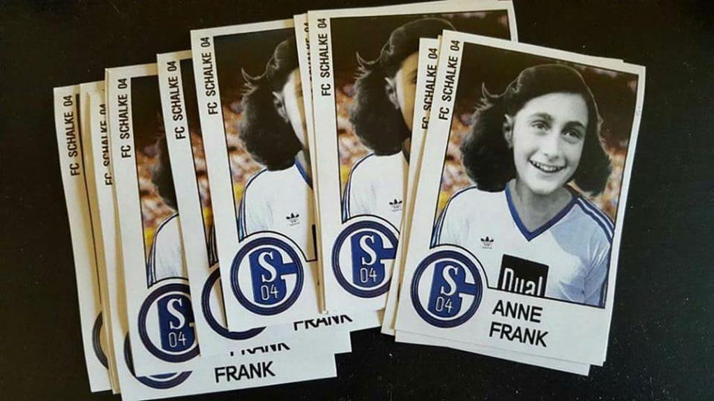 Anna Frank con maglietta Shalke 04: tifosi tedeschi imitano quelli laziali