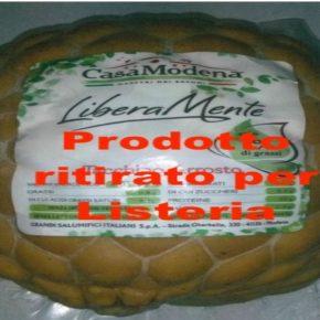 Listeria nel tacchino arrosto Casa Modena: il ritiro