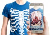 T-shirt a raggi X per osservare gli organi interni